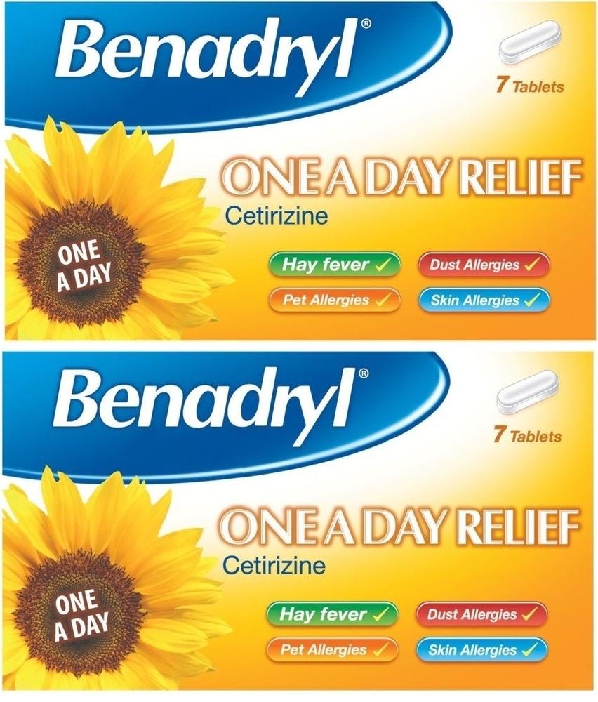Benadryl One A Day Allergy Tablets 7 Pack | Glomed Healthstore Ltd