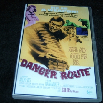 DANGER ROUTE 1967 DVD RICHARD JOHNSON