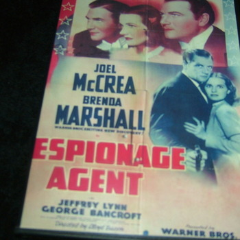 ESPIONAGE AGENT 1939 DVD