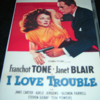 I LOVE TROUBLE 1948 DVD