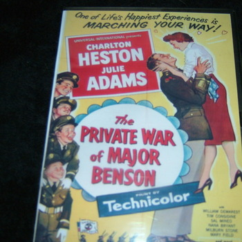 THE PRIVATE WAR OF MAJOR BENSON 1955 DVD