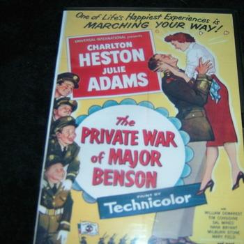 THE PRIVATE WAR OF MAJOR BENSON 1955 DVD