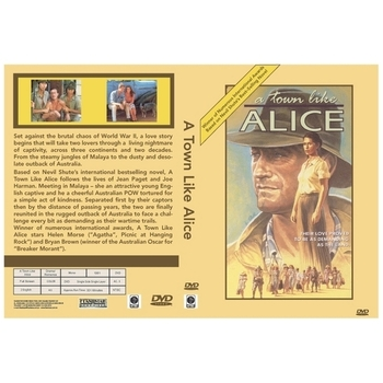 A Town Like Alice.(1983) on DVD Bryan Brown. 3 DVD Set