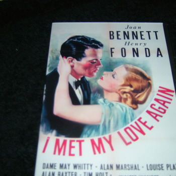 I MET MY LOVE AGAIN 1938 DVD