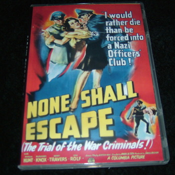 NONE SHALL ESCAPE 1944 DVD