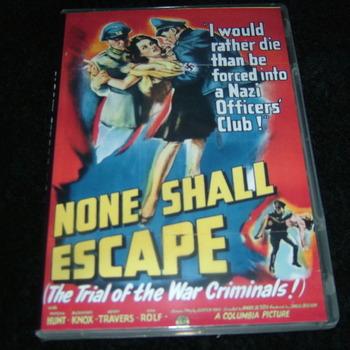 NONE SHALL ESCAPE 1944 DVD