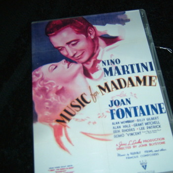 MUSIC FOR MADAME 1937 DVD