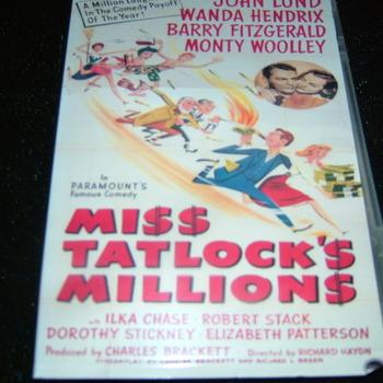 MISS TATLOCK'S MILLIONS 1948 DVD