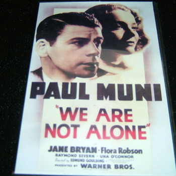 WE ARE NOT ALONE 1939 DV