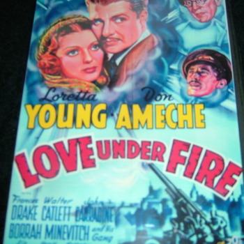 LOVE UNDER FIRE 1937 DVD