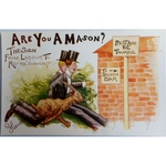 Are You a Mason? The Sign. Millar & Lang Postcard 1615