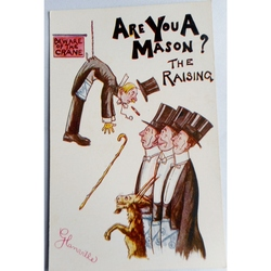 Are You A Mason? The Raising. Millar & Lang Postcard 1617
