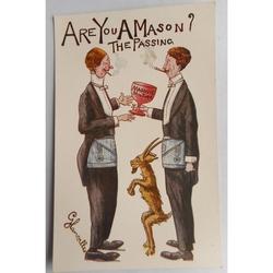 Are You a Mason? The Passing. Millar & Lang Postcard 1619
