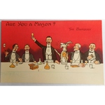 Are You a Mason? The Banquet. Millar & Lang Postcard 2679
