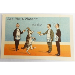 Are You a Mason? The Test. Millar & Lang Postcard 2683