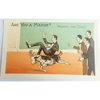 Are You a Mason? Riding the Goat. Millar & Lang Postcard 2684