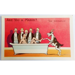 Are You a Mason? The Initiation.  Millar & Lang Postcard 2685