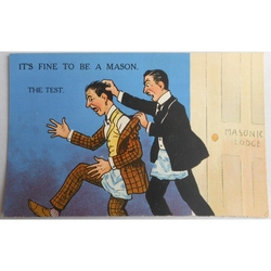 It's Fine to be a Mason. The Test. Millar & Lang Postcard 2982