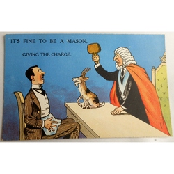It's Fine to be a Mason. Giving the Charge. Millar & Lang Postcard 2983