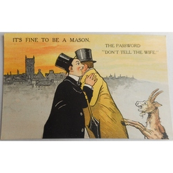 It's Fine to be a Mason. The Password. Millar & Lang Postcard 2986