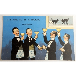 It's Fine to be a Mason. Harmony. Millar & Lang Postcard 2987
