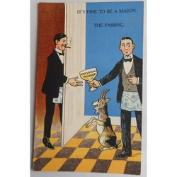 It's Fine to be a Mason. The Passing. Millar & Lang Postcard 2990