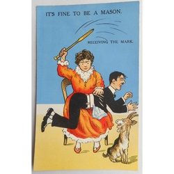 It's Fine to be a Mason. Receiving the Mark. Millar & Lang Postcard 2991