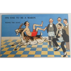 It's Fine to be a Mason. Riding the Goat. Millar & Lang Postcard 2992