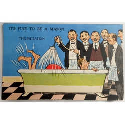 It's Fine to be a Mason. The Initiation. Millar & Lang Postcard 2993