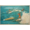 1968 Surfing Postcard Porthcawl