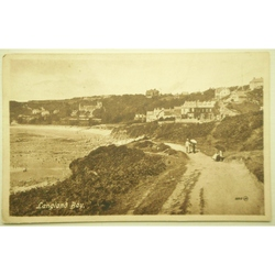 Langland Bay Early 1900s postcard