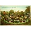 Floral Cuckoo Clock Victoria Park Swansea 1916 Postcard