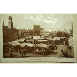Leicester Market Place 1914 Real Photo Postcard