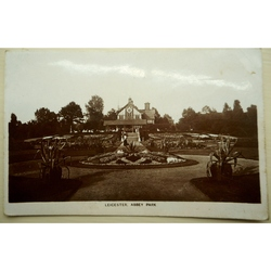 Leicester Abbey Park 1915 Real Photo Postcard