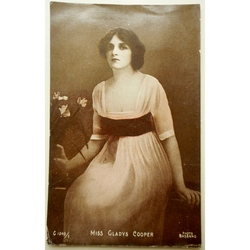 Gladys Cooper 1917 Postcard