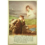 WWI Postcard, There's a Long Long Trail (1)
