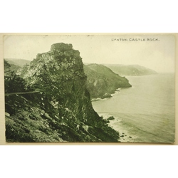 Lynton Castle Rock 1918 Postcard