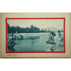Bords de Riviere 1917 WWI Sweetheart Postcard
