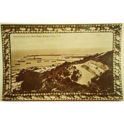 Naval Docks Simon's Town Old Photo Postcard