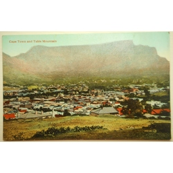 Cape Town and Table Mountain Old Postcard
