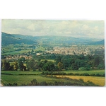 Usk Valley Abergavenny 1966 Postcard