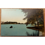 The Lake, Roath Park Vintage Postcard Valentines 65850