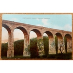 Porthkerry Viaduct Bridge Cardiff 1908 Postcard