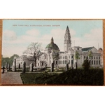 Town Hall Druid Stones Cardiff Vintage Postcard GD & DL Star Series