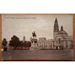Lord Tredegar Statue & Town Hall 1914? Real Photo Postcard Valentines 67630