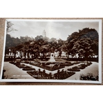 Friary Gardens Cardiff Vintage Real photo Postcard Valentines W2934