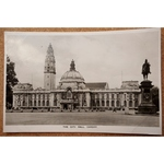 City Hall Cardiff Vintage Real Photo Postcard Strand series
