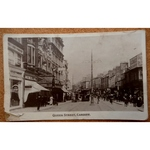 Queen Street Cardiff 1910 Real Photo Postcard, Speediq Photographic