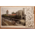 Cardiff Castle 1904 Postcard, Horse Drawn Tram, Stewart & Woolf Series 142