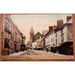 Cross Street Abergavenny Old Postcard Valentines 35455